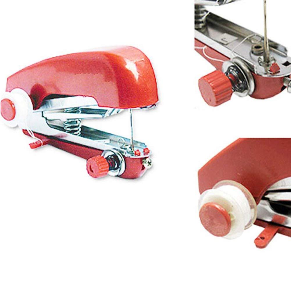 Enfile Inclus mxdmai Mini Machine /à Coudre Machine /à Coudre Portable /à Main Rapide Point Outil pour Accueil Couleur al/éatoire Voyage