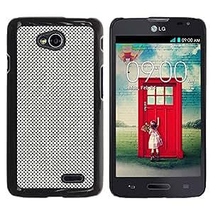 MobileHut / LG Optimus L70 / LS620 / D325 / MS323 / Pop Art Modern Raster Dots Greek / Delgado Negro Plástico caso cubierta Shell Armor Funda Case Cover
