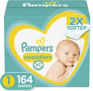 Diapers Newborn / Size 1 (8-14 lb), 164 Count - Pampers Swaddlers Disposable Baby Diapers, Enormous Pack