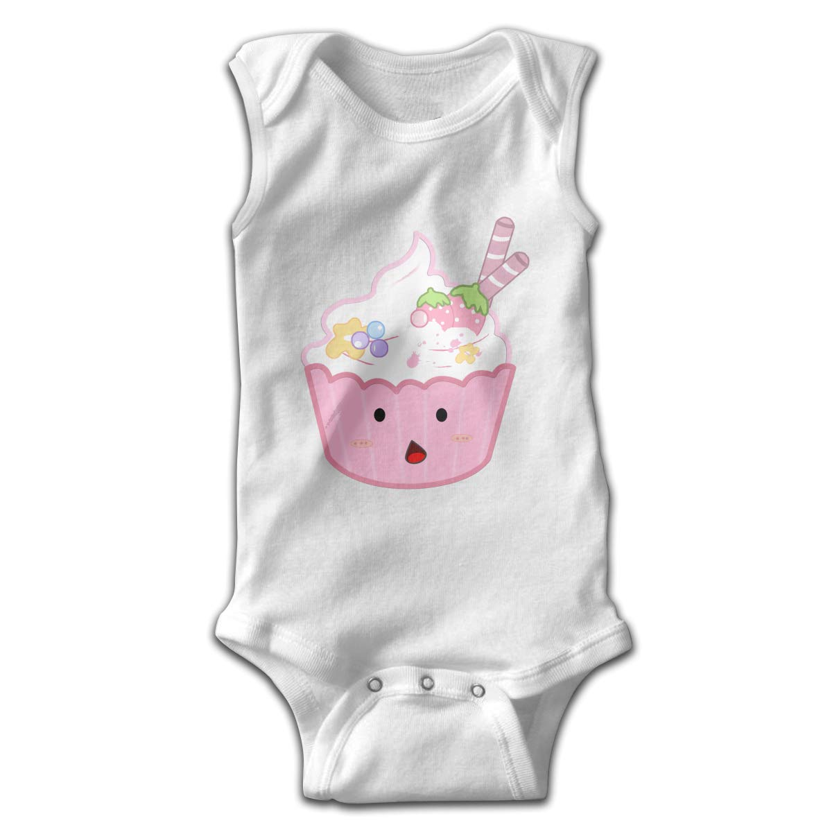 Toddler Baby Girls Rompers Sleeveless Cotton Jumpsuit,Ice Cream Outfit Winter Pajamas