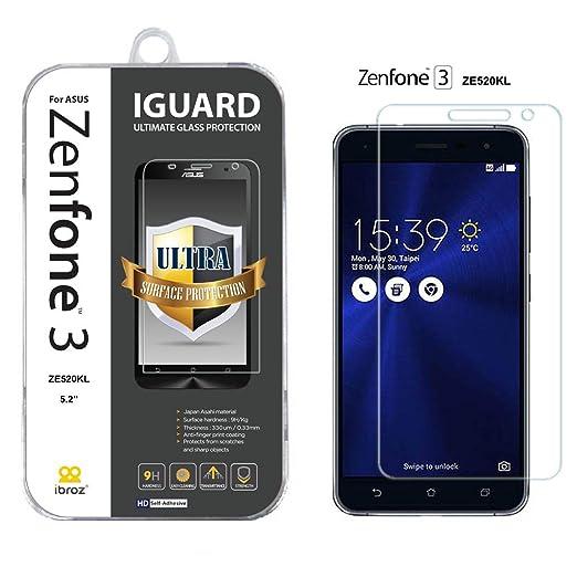 """12 opinioni per ASUS Zenfone 3 (ZE520KL)- 5.2"""", proteggi schermo in vetro temperato Premium Anti"""