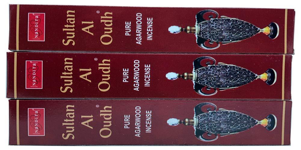 Nandita Sultan AL OUDH 天然天然アガーウッド香スティック – 3本パック (各15グラム) B07HSHZGPF