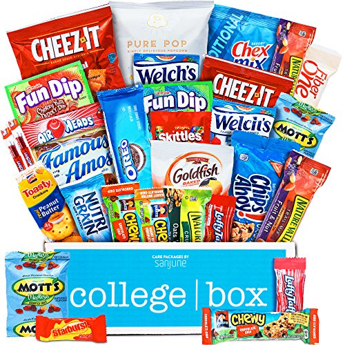 CollegeBox - Classic Snacks Care Package - Chips, Cookies, Candy Assortment Bundle Gift Pack and Variety Box (30 Count) (College Care Packages Gift Baskets)