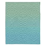 DiaNoche Designs Blankets Ultra Soft Fuzzy Fleece 4 SIZES! Home Decor Bedroom Couch Throw Blankets by Susie Kunzelman - Grandma's Lace Spa Blue