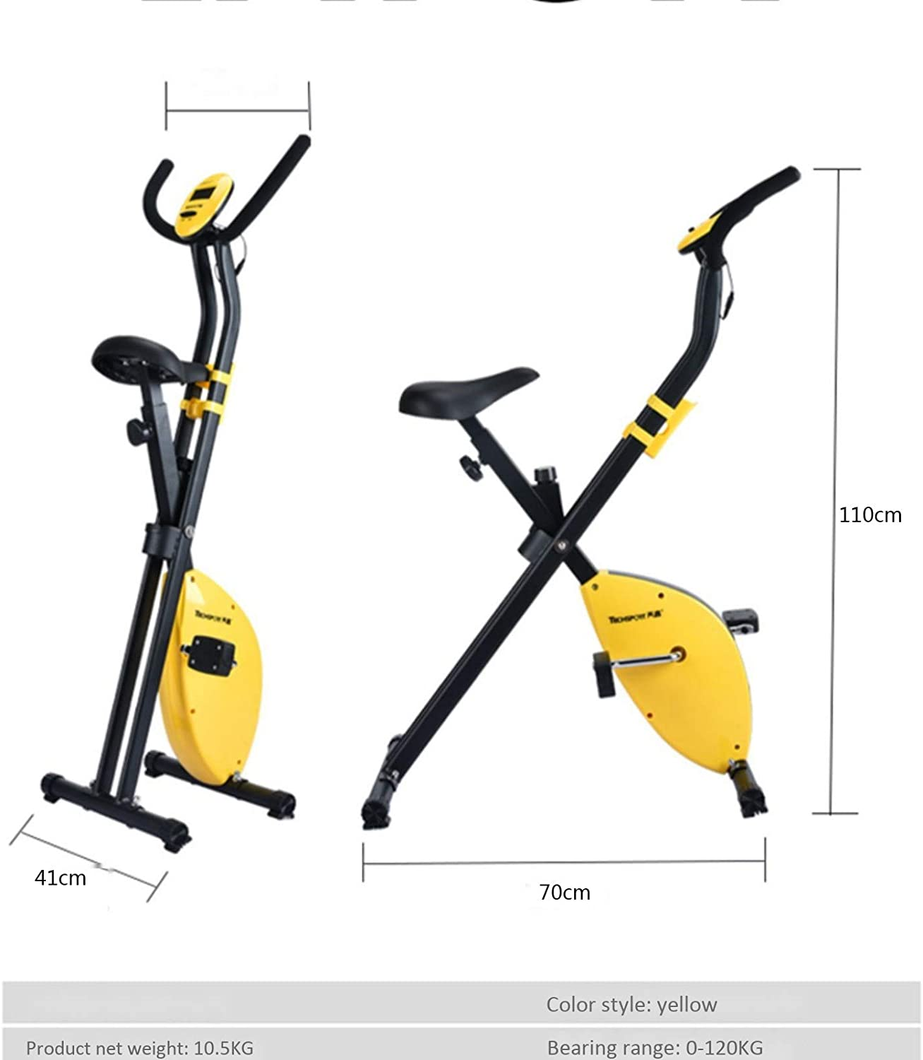 YMXLXL F-Bike And F-Rider Sporting Equipment Fitness Bike And Ab Trainer Ideal Cardio Trainer,Yellow
