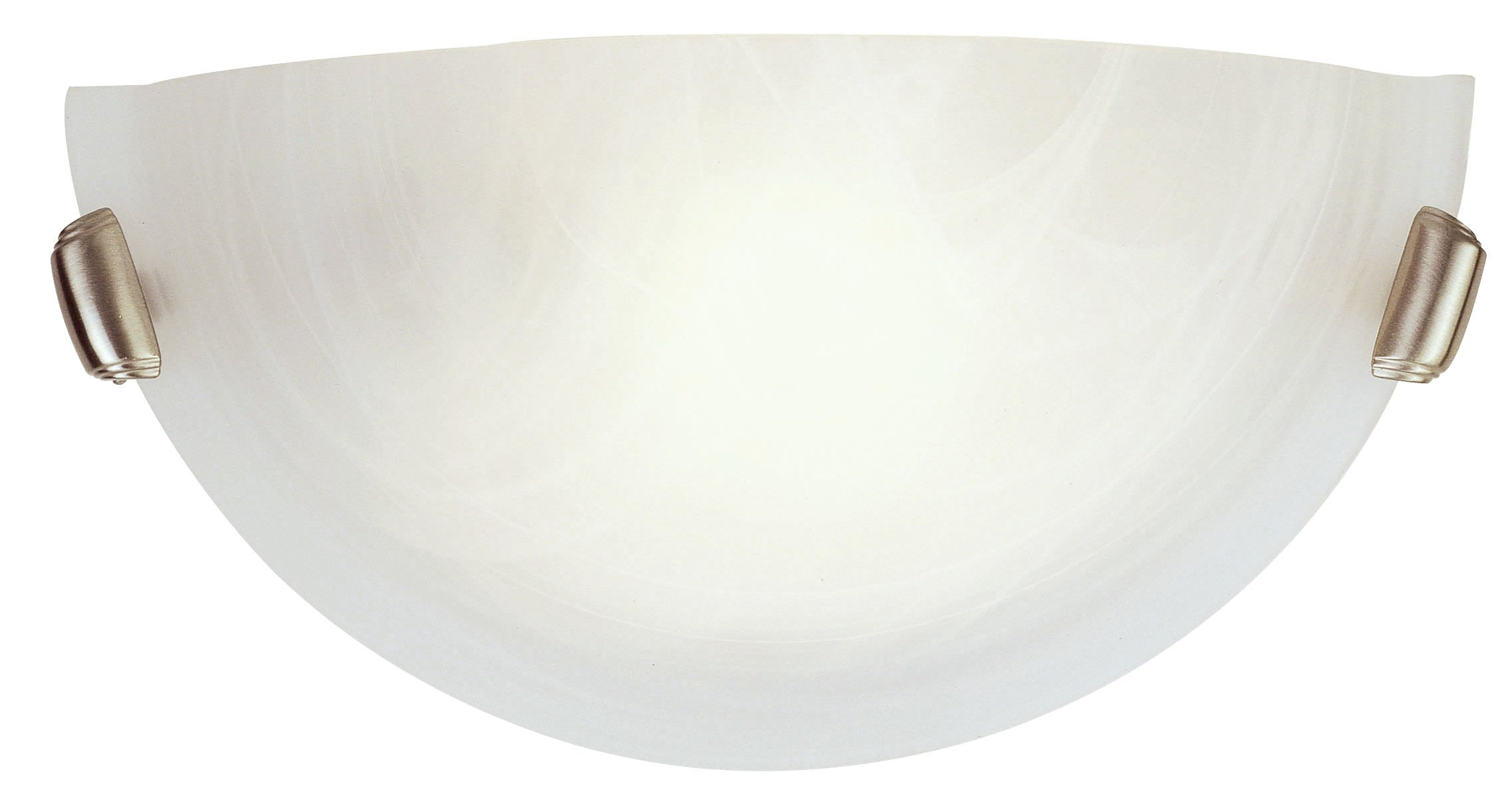 Livex Lighting 4271-91 Home Basics 1 Light Brushed Nickel Wall Sconce with White Alabaster Glass