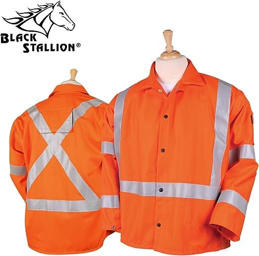 Revco JF1012-OR 30 Hi-Vis 9 oz Flame Resistant Cotton Welding Jacket