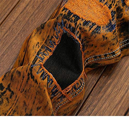 Eu Toutes Fermeture Hommes Classique Pantalons Motard Cintrés Glissière Décontractés 37 Pour Designer 1 Avec taille Tailles De Hommes Coupe Déco 3 À Jeans Droite TgEPqwg