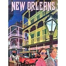TRAVEL NEW ORLEANS AMERICA USA CITY FINE ART PRINT POSTER CC1982