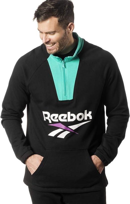 hermosa y encantadora precios de remate en venta en línea Amazon.com: Reebok Classics Vector 1/4 Zip Sweatshirt: Clothing