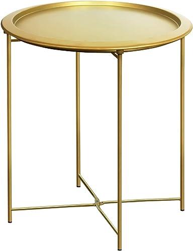 Furnius Folding Tray Metal Side Table