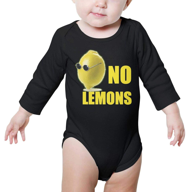 LUCKYBABY No Lemons Glasses Words Black Newborn Baby Bodysuit Onesie Long Sleeve Organic Cotton Rompers