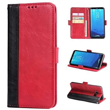 1200475db0c9 for Samsung Galaxy S8 Case LAPOPNUT Vintage PU Leather Flip Case Matte  Texture Wallet Cover with