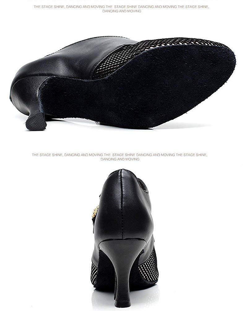 ZHRUI Modern Dance Schuhe für für für Damen, weiche Bottom Latin Schuhe Ballroom Dance Schuhe (Farbe   Schwarz, Größe   Foot Length=22.8CM9Inch)  109793