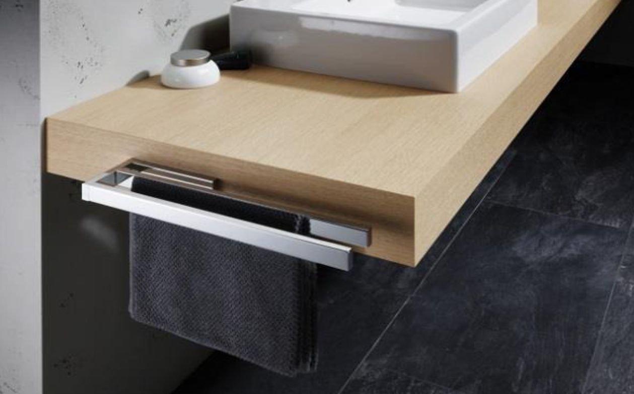 Avenarius Handtuchhalter für Badmöbel zweiarmig 39 cm Messing verchromt