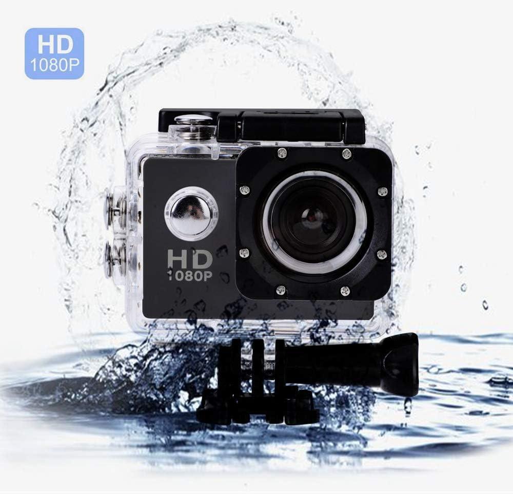 2 Pollici Videocamera DV Impermeabile da Esterno di Alta Definizione con Angolo di 140 Gradi per Immersioni//Immersioni Subacquee//Arrampicata Mugast HD Azione Camera DV Nero