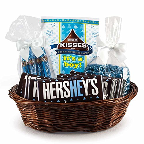New Baby Gifts Large Candy Gift Basket for Boys