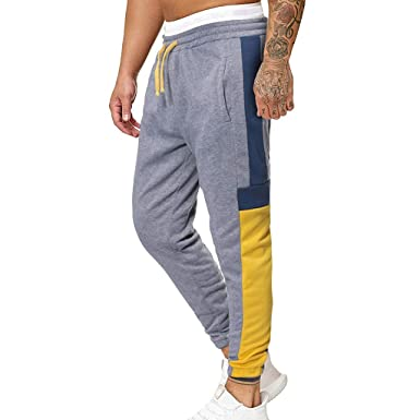 Alueeu - Pantalones de chándal para Hombre - Negro - XXX-Large ...