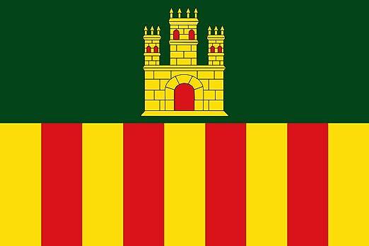 magFlags Bandera Large Cubellas, Barcelona, España | Bandera Paisaje | 1.35m² | 90x150cm: Amazon.es: Jardín