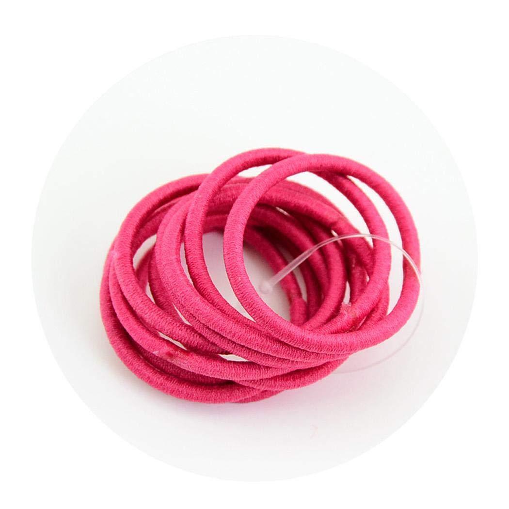 Kirken 100 Pcs/Set Kids Hair Ring Casual Cute Headwear Elastic Hair Ring Hair Rope Multicolor