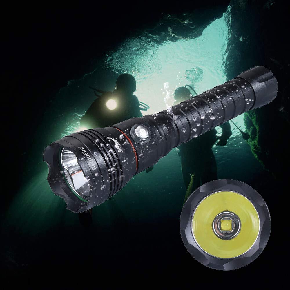 Sisit Tauchlampen-Set Tauchen Taschenlampe XHP70.2 Unterwasser-Helligkeit Wasserdicht 100m 100m 100m Light Torch (Schwarz) B07JBD7DDW | In hohem Grade geschätzt und weit vertrautes herein und heraus  031524