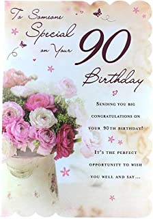 Goldmark Age 90 Female Birthday Card