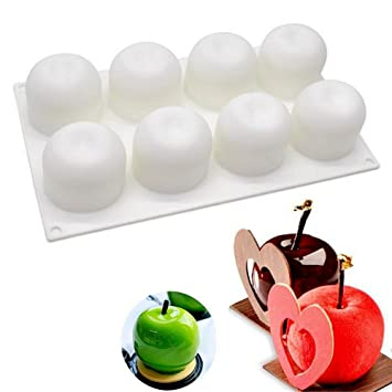 Molde de silicona para tartas, forma de manzana, molde para cupcakes, postre, fondant, chocolate: Amazon.es: Hogar