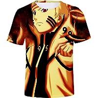 OLIPHEE Naruto Anime Niños Camisetas De Manga Corta Kakashi Japón Uchiha Clan Uzumaki Tshirt Deportiva
