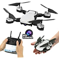 Baybee 4-CH Foldable Drone for Kids with Camera 720P WiFi HD FPV Drones RC Quadcopter RTF 4CH 2.4Ghz Remote Control Headless-Altitude Hold-Super Easy Fly for Training-White