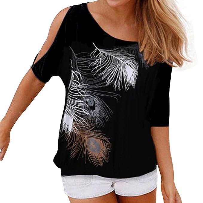 SYGoodBUY Camiseta de Verano sin Mangas de Verano sin Tirantes de Hombro Túnica de Playa con