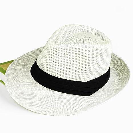 8a8c7b4f7315f Amazon.com  DNSJB Sun Hat Men s Summer Big Eaves Hat Mesh Breathable Straw  Hat