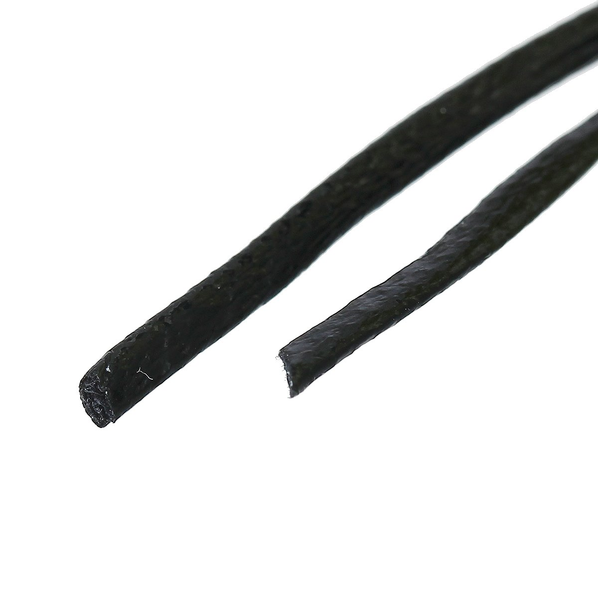 schwarz 2mm breit SiAura Material 40m PU Lederband in Einer Kordel