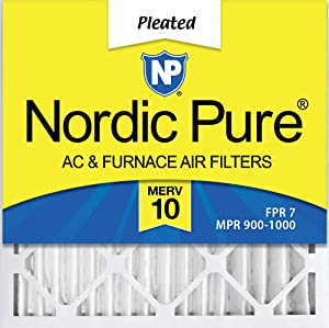 Nordic Pure 20x20x2 MERV 10 Pleated AC Furnace Air Filter, Box of 3