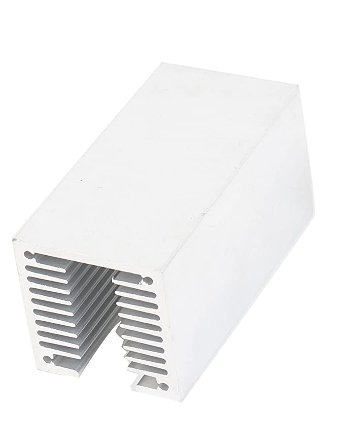Amazon.com: eDealMax tono de Plata T ranurado radiador de aluminio del disipador de calor del disipador de calor 80x40x40mm: Electronics
