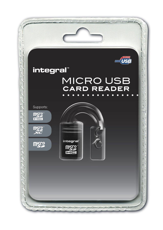 Integral - Lettore di schede di memoria USB 2.0 - Micro SD e SDHC 5055288400641