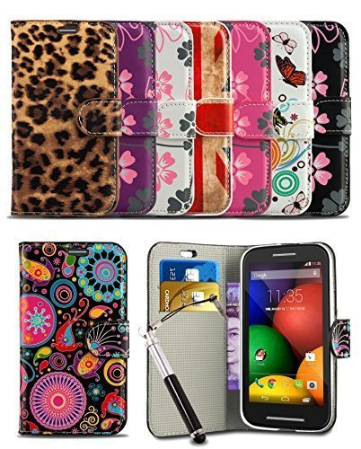 London Gadget Store Stylish Pattern Modern Print Design Wallet Flip Case Cover Vodafone Smart 4 TURBO