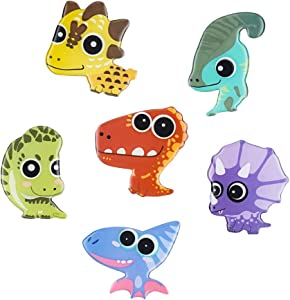 Morcart Refrigerator Magnets Cute Dinosaur Animal Magnet For Fridge Kid Toys Students Lockers Door Map Office Whiteboard Best Gift Choice 6PCS