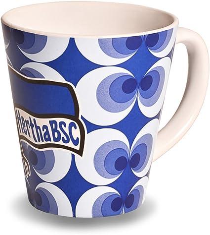 "Hertha BSC  Kaffeebecher /""Streifen/"" Fanartikel Tasse Becher"