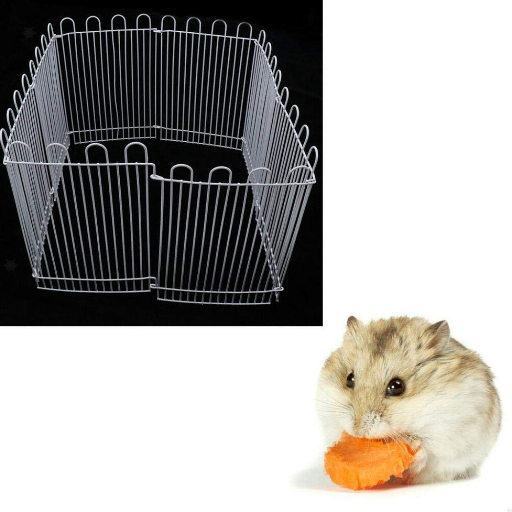 TeDUnaxxme 23cm 8 Panels Metal Hamster Small Animals Playpen Run Cage Toy Pet Supplies by TeDUnaxxme