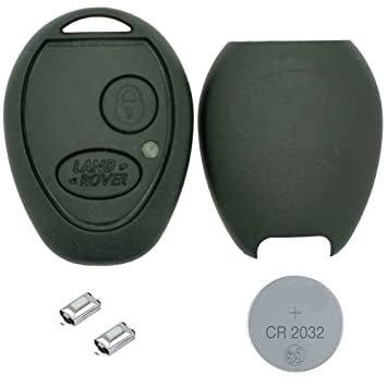 RKFUK® - DIY Repair Kit - LandRover Discovery 2 TD4 TD5 2 Button  Replacement Car Key Fob Casing with Logo 2 x Micro Switches and a New  Battery for