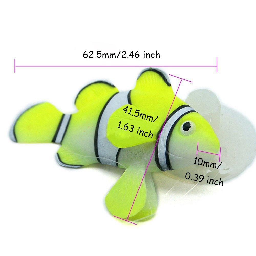 Amazon.com : Bestgle Silicone Aquarium Artificial Floating Glowing ...