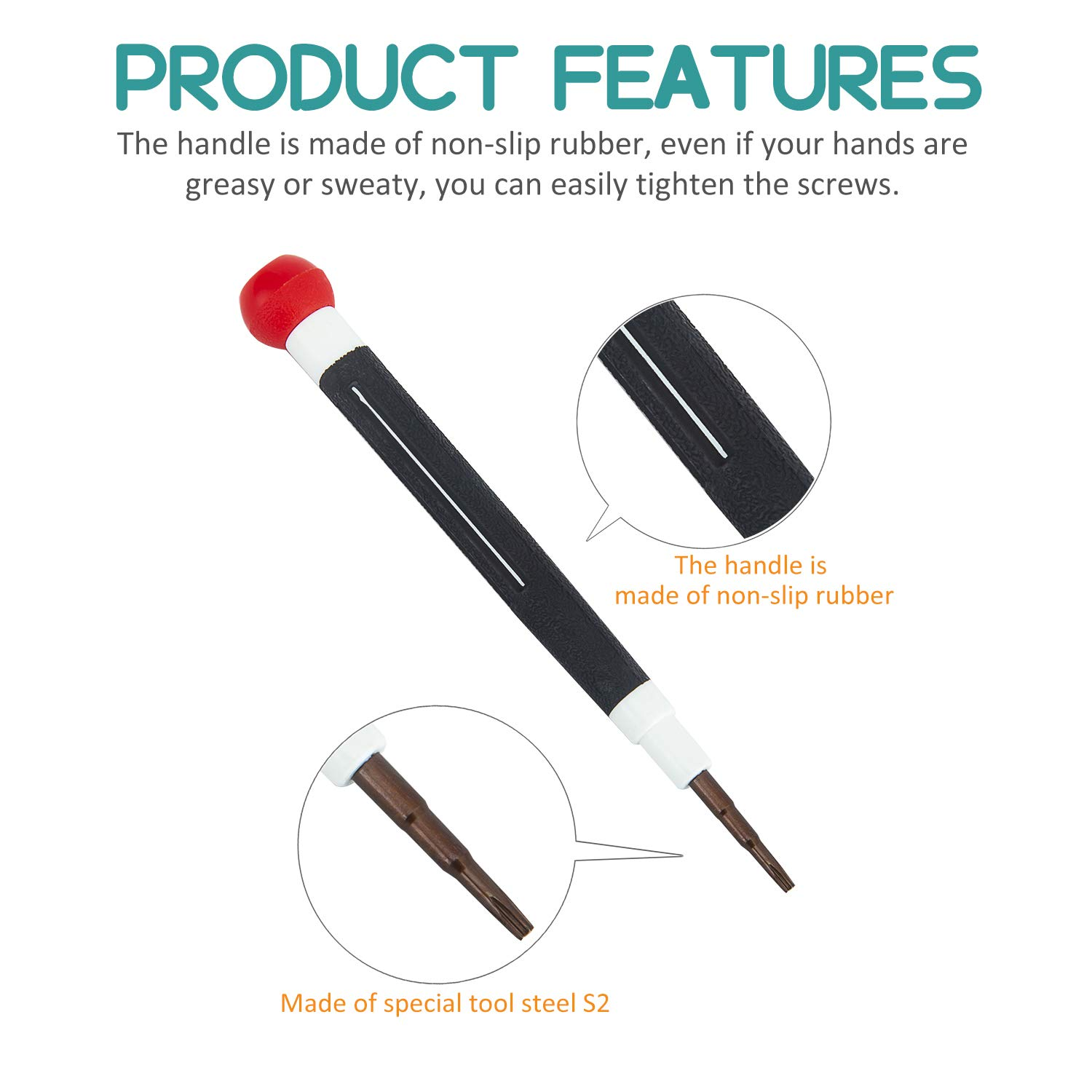 6 Piece Precision Screwdriver Set Rdeer Multifunction Magnetic Electronic Repair Tool Kit For iPhone//iPad//Samsung Galaxy Series//Smartphone//Laptop//Cameras//Watch//Glasses Etc.