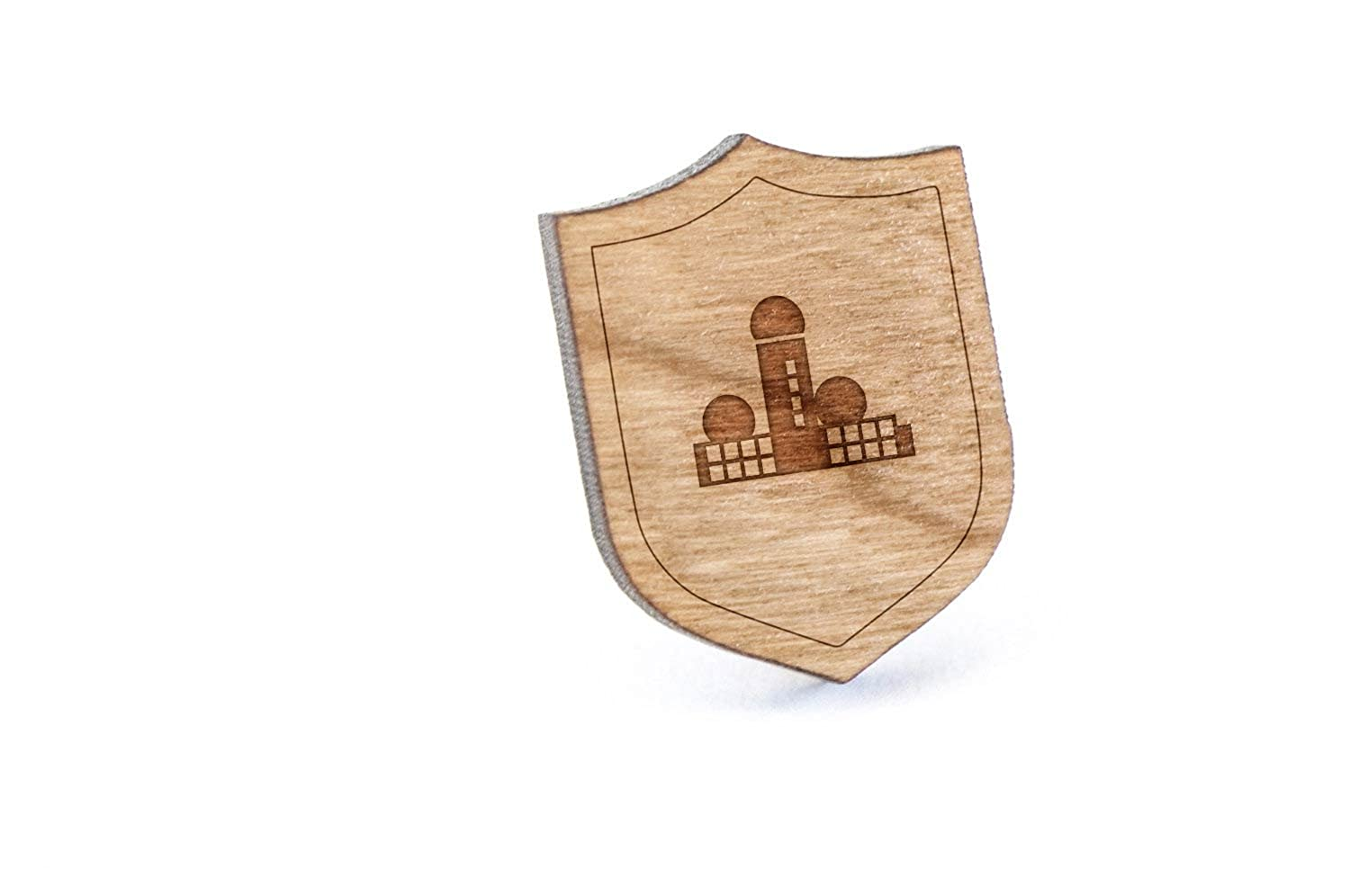 Teufelsberg Lapel Pin, Wooden Pin And Tie Tack | Rustic And Minimalistic Groomsmen Gifts And Wedding Accessories