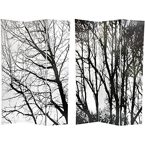 Trees Room Divider - Oriental Furniture 6 ft. Tall Trees Double Sided Room Divider