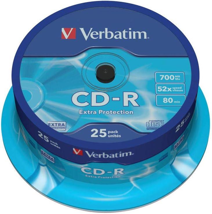 Verbatim 43432 - Pack de 25 CD-R: Amazon.es: Electrónica