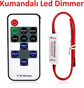 Funk LED Strip Fernbedienung Dimmer Controller Remote Einfarbig Streifen Leiste