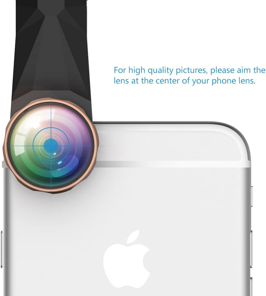 10X Macro Lens 0.67X Wide Angle and Other Android Smartphones Habor 3 in 1 Clip-On Camera Lens Kit with 180 Degree No Dark Corner Fisheye Lens Reversiable Clip for IPhone6