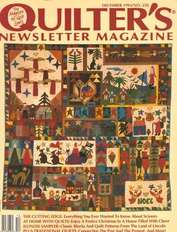 - Quilter's Newsletter Magazine, December 1993, No. 258 (The Magazine for Quilt Lovers, December 1993)