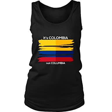 601192add95 Colombia T-Shirt Colombian Flag Tee Travel Vacation Souvenir Tank Top at  Amazon Women's Clothing store: