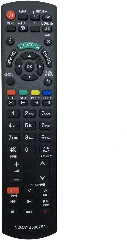 ALLIMITY N2QAYB000752 Sub N2QAYB000753 Mando a Distancia reemplazado por Panasonic Viera LCD LED TV TX-P42XT50E TX-P46GT30E TX-P46GT30Y TX-P46GTF32 TX-P46GTF32J TX-P46GTN33 TX-P46GTS31 TX-P46GTX34: Amazon.es: Electrónica